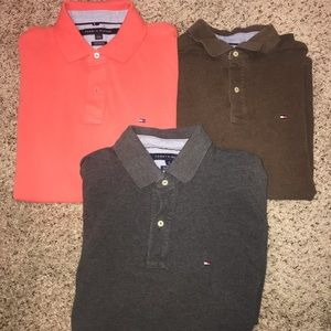 (3) Tommy Hilfiger Polos Large